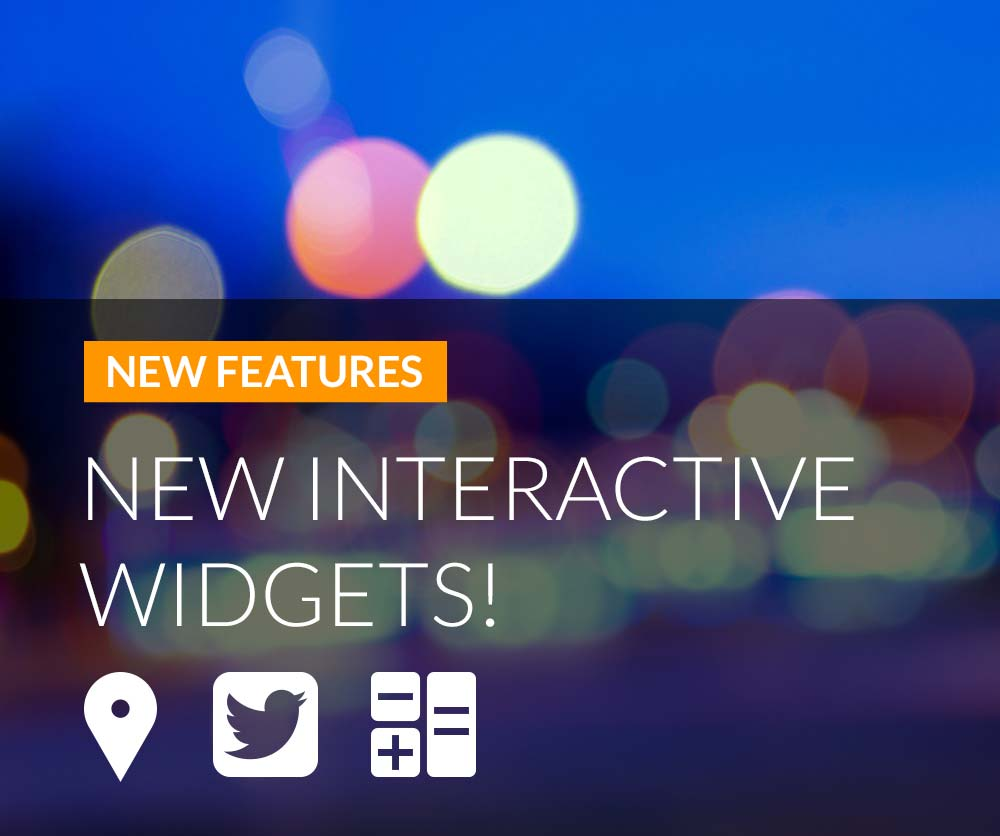 New Digital Agent Interactive Widgets