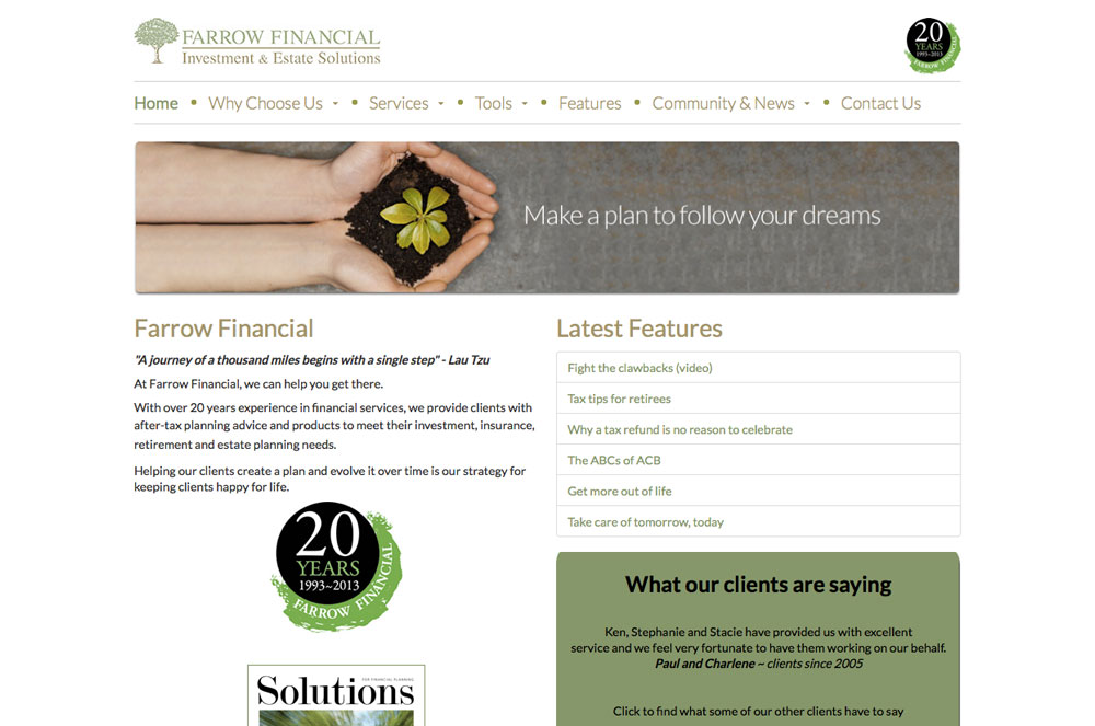 Farrow Financial Services Inc.