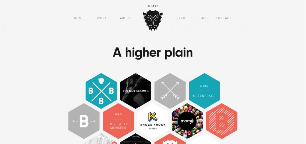 Website using whitespace effectively