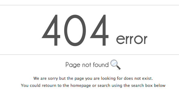 SEO Common Mistakes Advisors Make 404 error notice