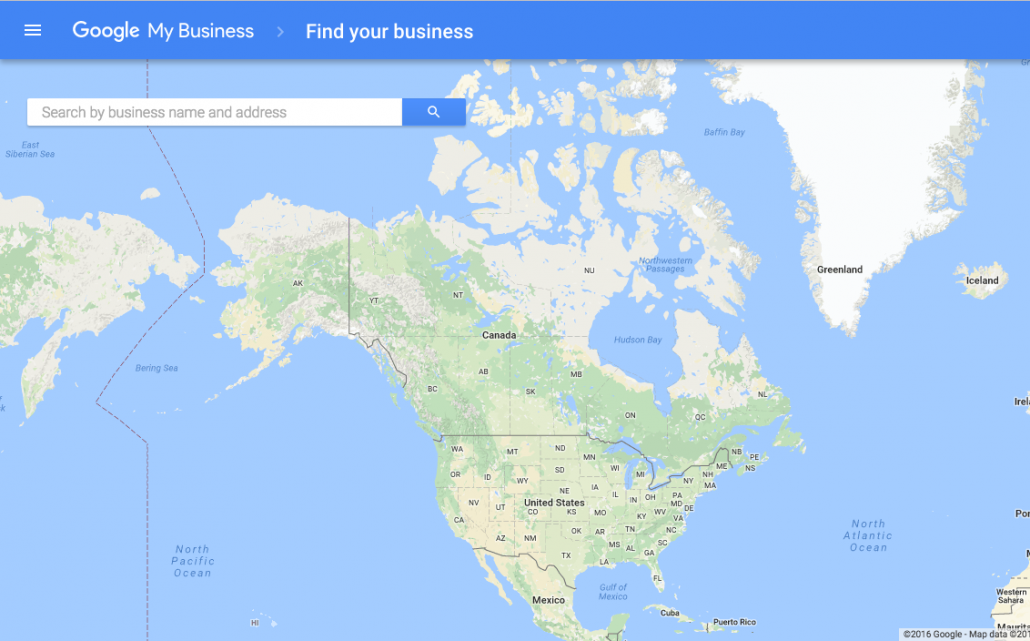 Google My Business Map example