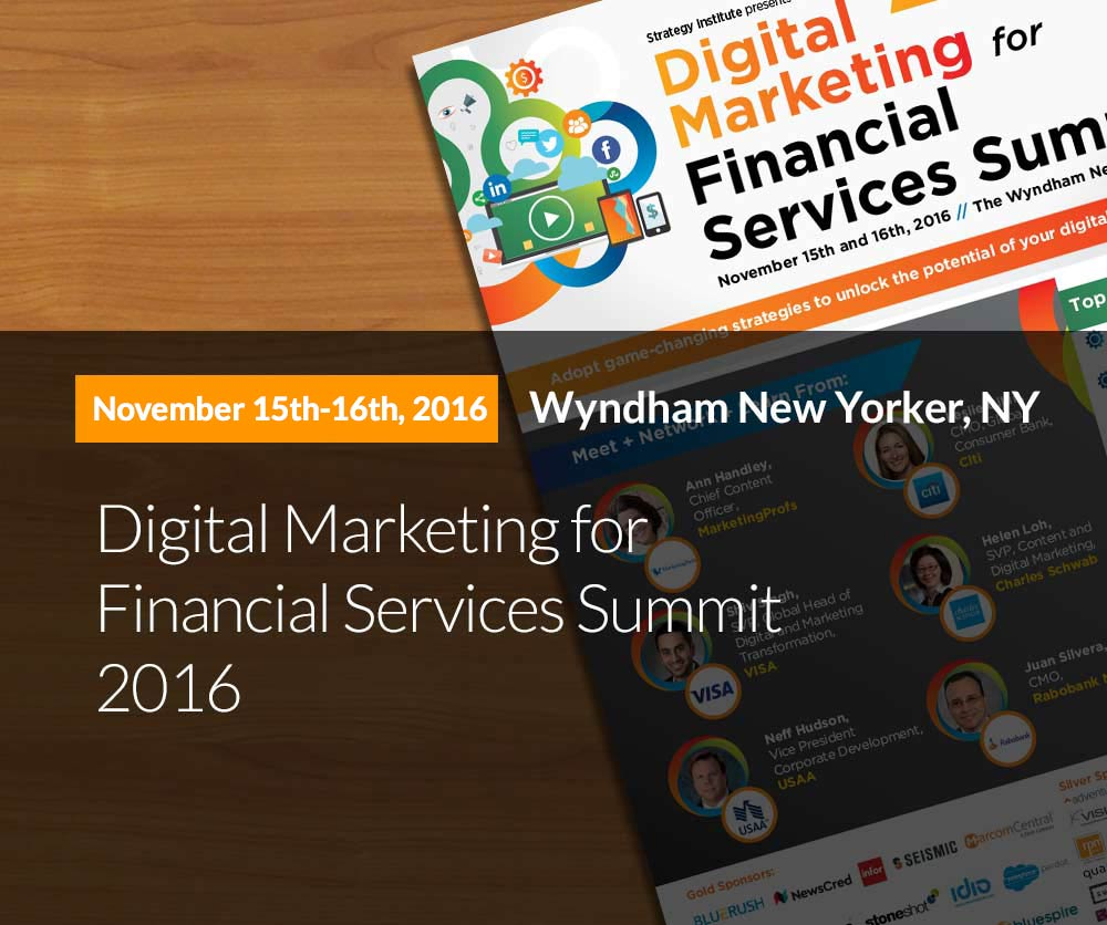 3rd Annual Digital Marketing For Financial Services Summit